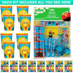Sesame Street 1st Birthday Favor Kit (For 8 Guests)