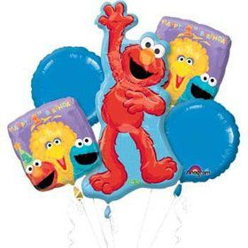 Sesame Street 1st Birthday Mylar Balloon Bouquet (each)