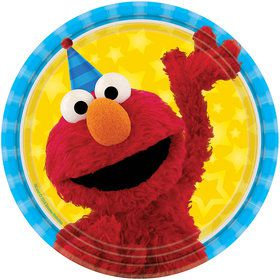 Sesame Street 7\  Cake Plates (8 Count)  sc 1 st  Birthday in a Box & Elmo Paper Cups | Elmo\u0027s 1st Birthday party supplies from Birthday ...