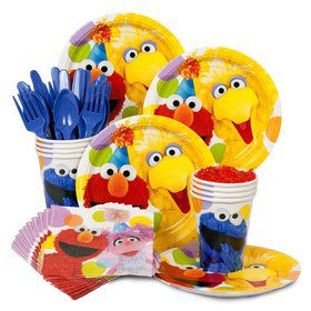Sesame Street Birthday Standard Tableware Kit Serves 8