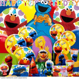 Sesame Street Birthday Ultimate Tableware Kit Serves 8