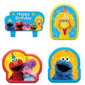 Sesame Street Candle Set (4 Count)