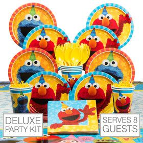 Sesame Street Deluxe Tableware Kit (Serves 8)
