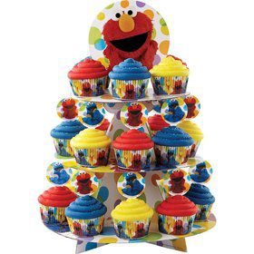 Sesame Street Elmo Cupcake and Treat Stand (Each)