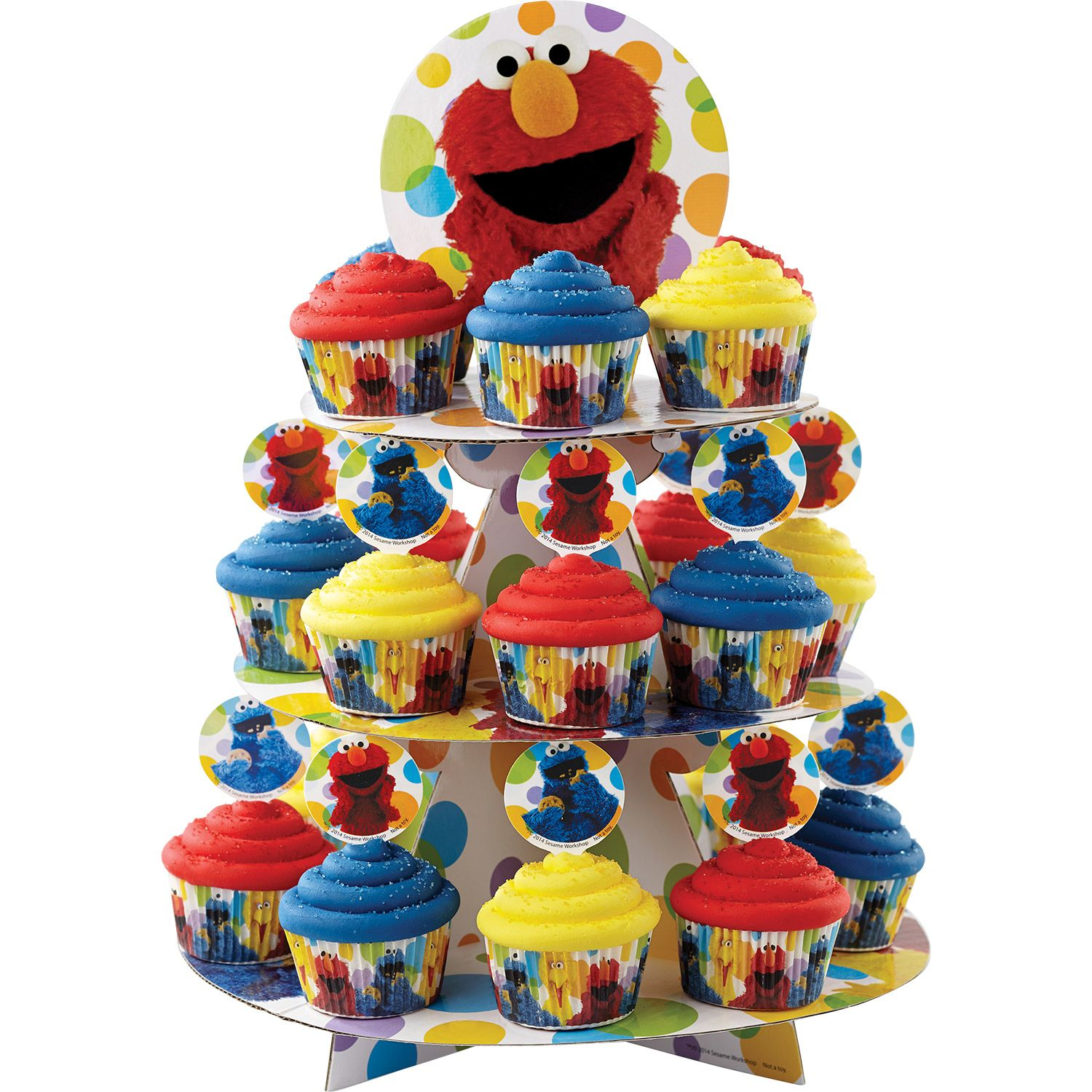 Sesame Street Elmo Cupcake And Treat Stand (Each) - Party Supplies BB15123460