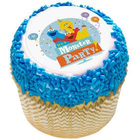 "Sesame Street Monster Party 2"" Edible Cupcake Topper (12 Images)"