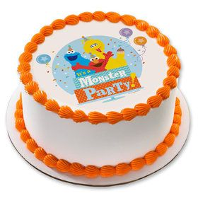 "Sesame Street Monster Party 7.5"" Round Edible Cake Topper (Each)"