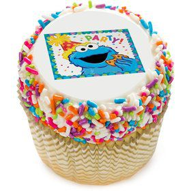 "Sesame Street Party 2"" Edible Cupcake Topper (12 Images)"