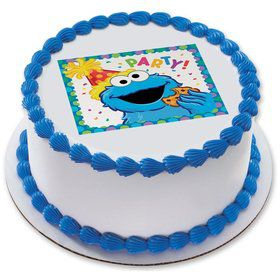 "Sesame Street Party 7.5"" Round Edible Cake Topper (Each)"