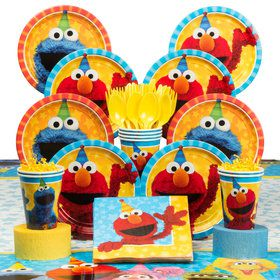 Sesame Street Party Deluxe Tableware Kit (Serves 8)