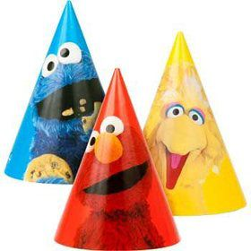 Sesame Street Party Hats (8-pack)