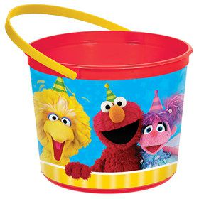 Sesame Street Plastic Favor Container (Each)
