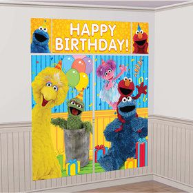 Sesame Street Scene Setter Decoration (5 Pieces)