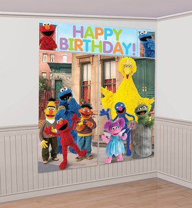 Sesame Street Scene Setter Wall Decorating Set (Each)