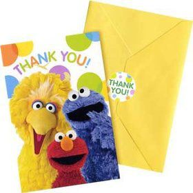 Sesame Street Thank You Notes (8-pack)