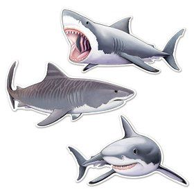 "Shark 24"" Cutouts (3 Pack)"