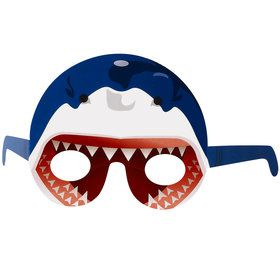 Shark Head Paper Masks One size