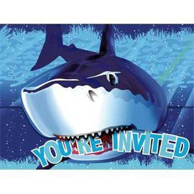 Shark Invitations (8-pack)
