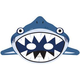 Shark Paper Masks (8 Count)