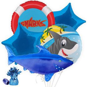 Shark Party Balloon Bouquet Kit