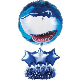 Shark Party Balloon Centerpiece
