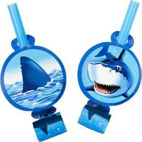 Shark Party Blowers (8-pack)