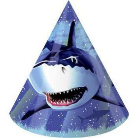 Shark Party Hats (8-pack)