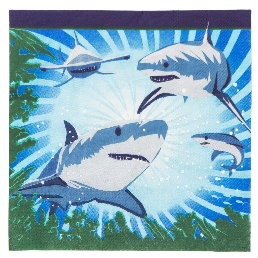 Shark Party Luncheon Napkins (16 Pack) BB72936