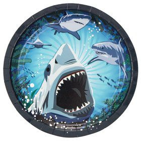 Shark Party Luncheon Plate (8 Pack)