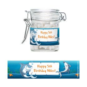 Shark Personalized Swing Top Apothecary Jars (12 ct)