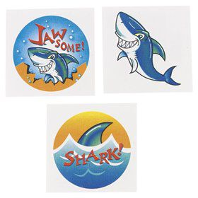 Shark Tattoos (36-pack)