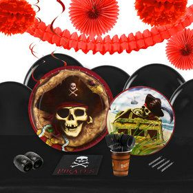 Pirates 16 Guest Tableware Decoration Kit
