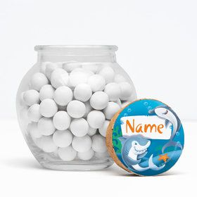 "Sharks Personalized 3"" Glass Sphere Jars (Set of 12)"