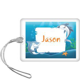 Sharks Personalized Bag Tag (each)