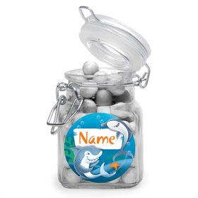 Sharks Personalized Glass Apothecary Jars (10 Count)