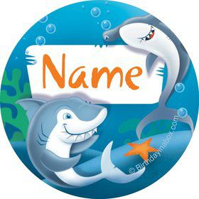 Sharks Personalized Mini Stickers (Sheet of 20)