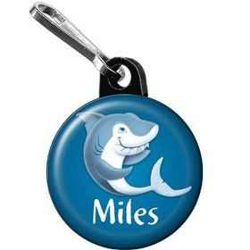 Sharks Personalized Mini Zipper Pull (each)