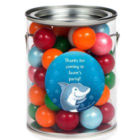 Sharks Personalized Paint Can Favor Container (6 Pack)
