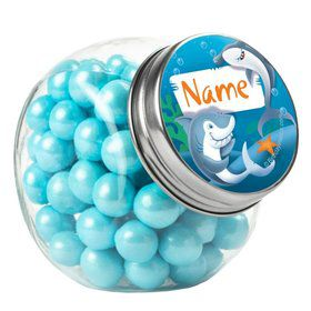 Sharks Personalized Plain Glass Jars (12 Count)
