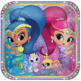 """Shimmer and Shine 9"""" Luncheon Plate (8 Count)"""