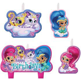 Shimmer and Shine Birthday Candles (4 Count)