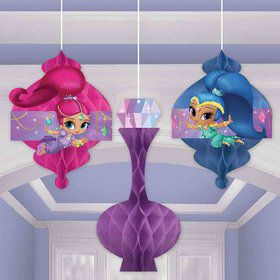Shimmer and Shine Honeycomb Decorations (3 Count)