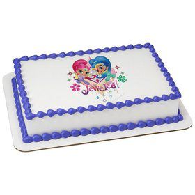 Shimmer and Shine Quarter Sheet Edible Cake Topper (Each)