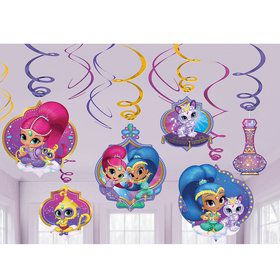 Shimmer and Shine Swirl Decorations (12 Count)