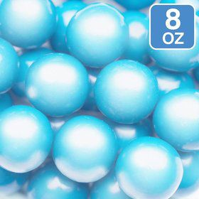 Shimmer Powder Blue Gumballs 8oz (Each)