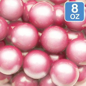 Shimmer Powder Pink Gumballs 8oz (Each)