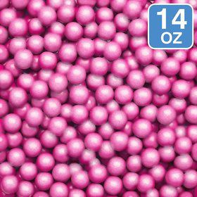 Shimmer Powder Pink Sixlets 14oz (Each)