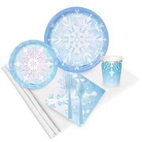 Snowflake Winter Wonderland Party Pack (24)
