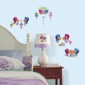 Shimmer Shine Wall Decals With Glitter