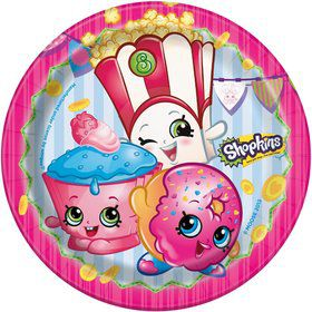 "Shopkins 7"" Cake Plates (8 Count)"